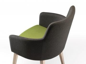 P1 Marka Armchair on Wood Frame