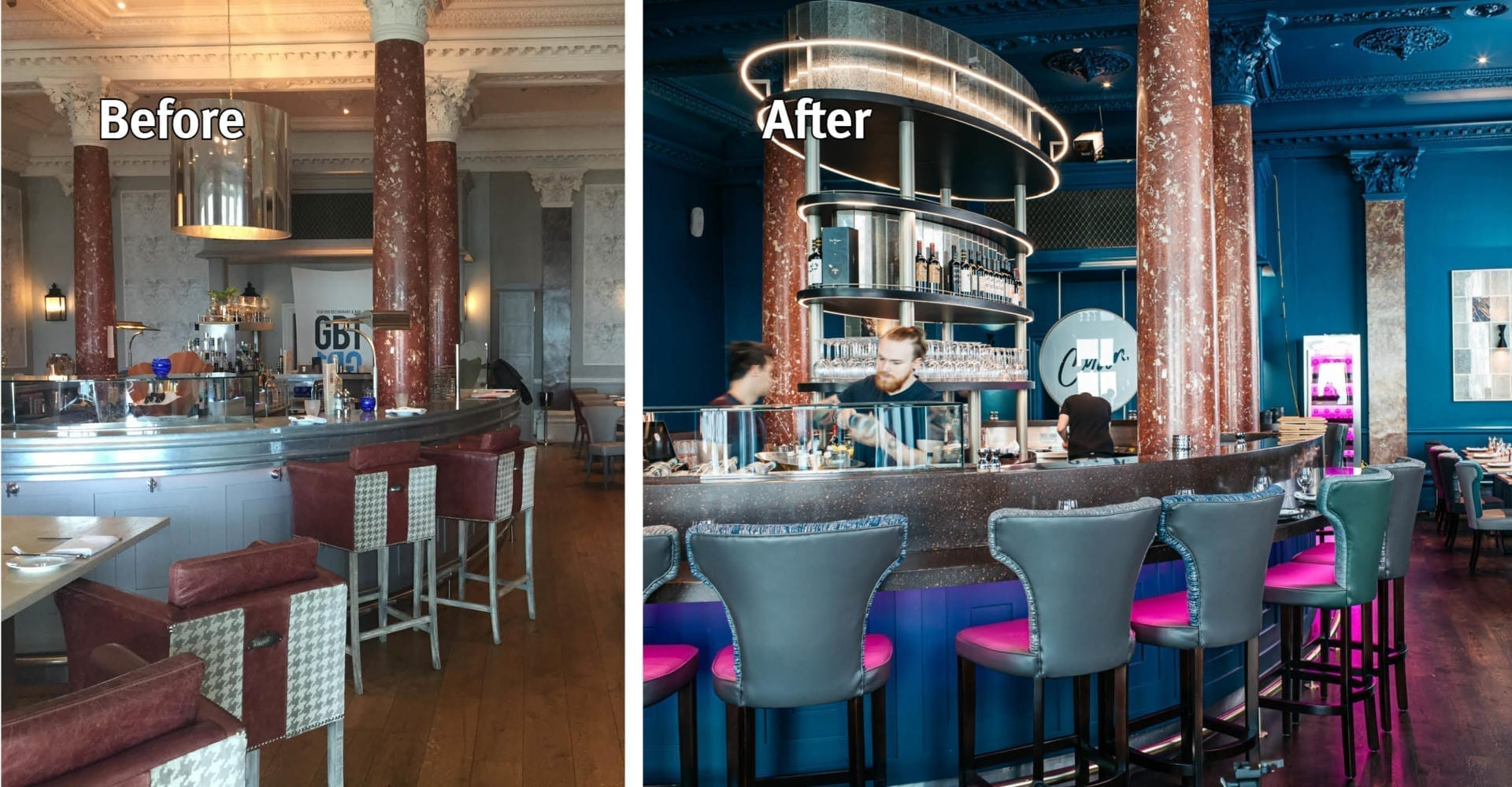 Grand Brighton Hotel Bar Before and after