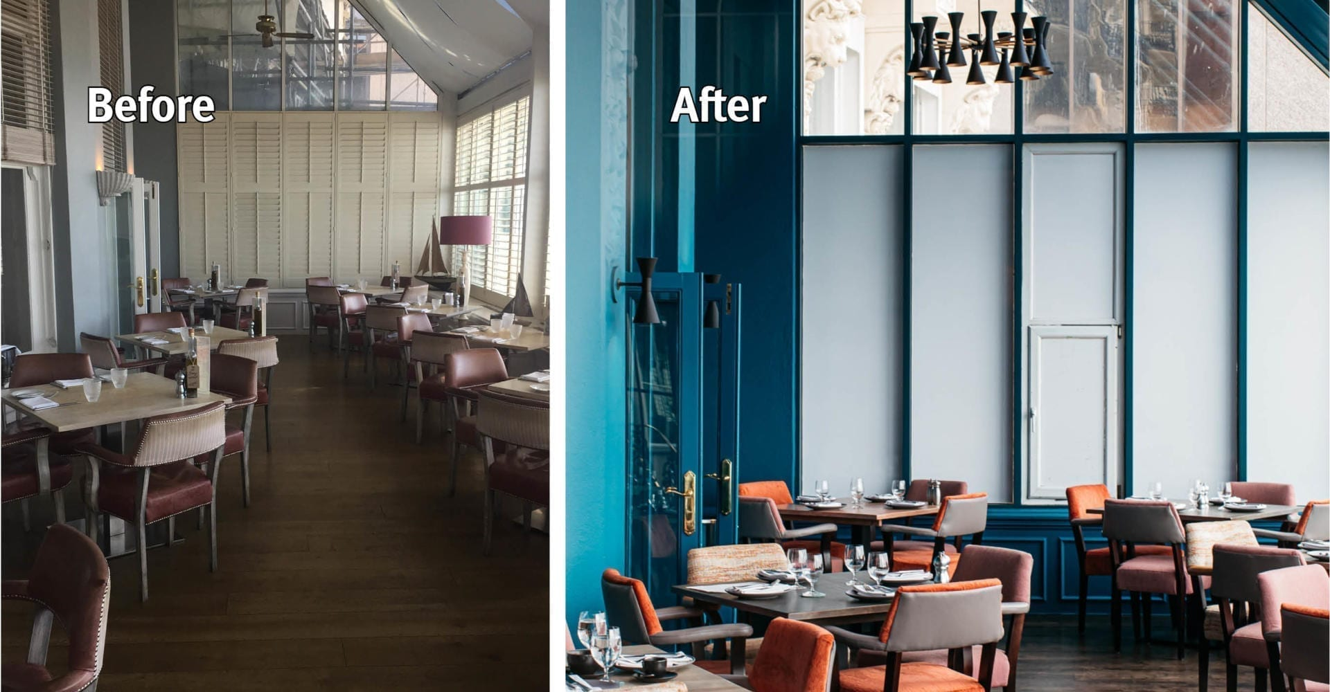 Grand Brighton Hotel Orangery Before and after