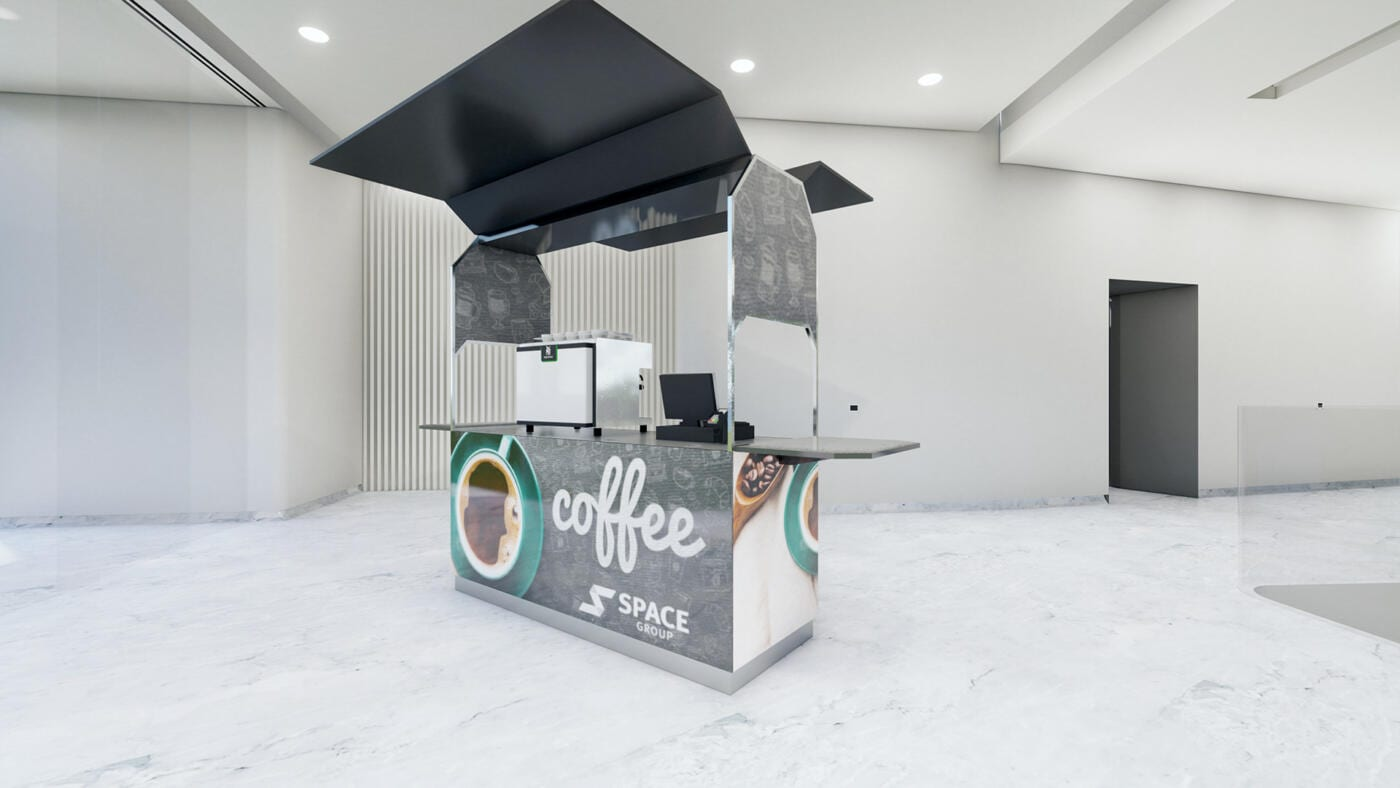 Secure Mobile coffee cart